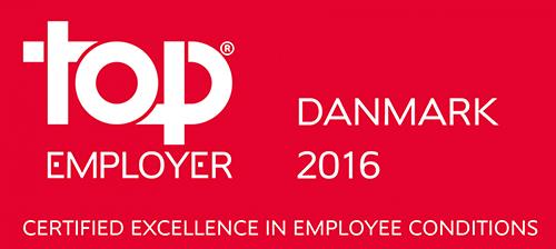 Top Employers Danmark 2016